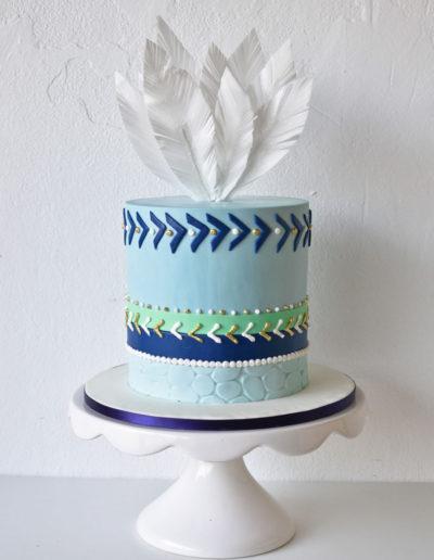Bohemian-Style-Baby-Shower-Cake