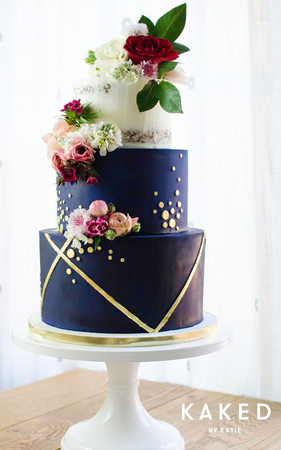 Navy Blue Cake Stand