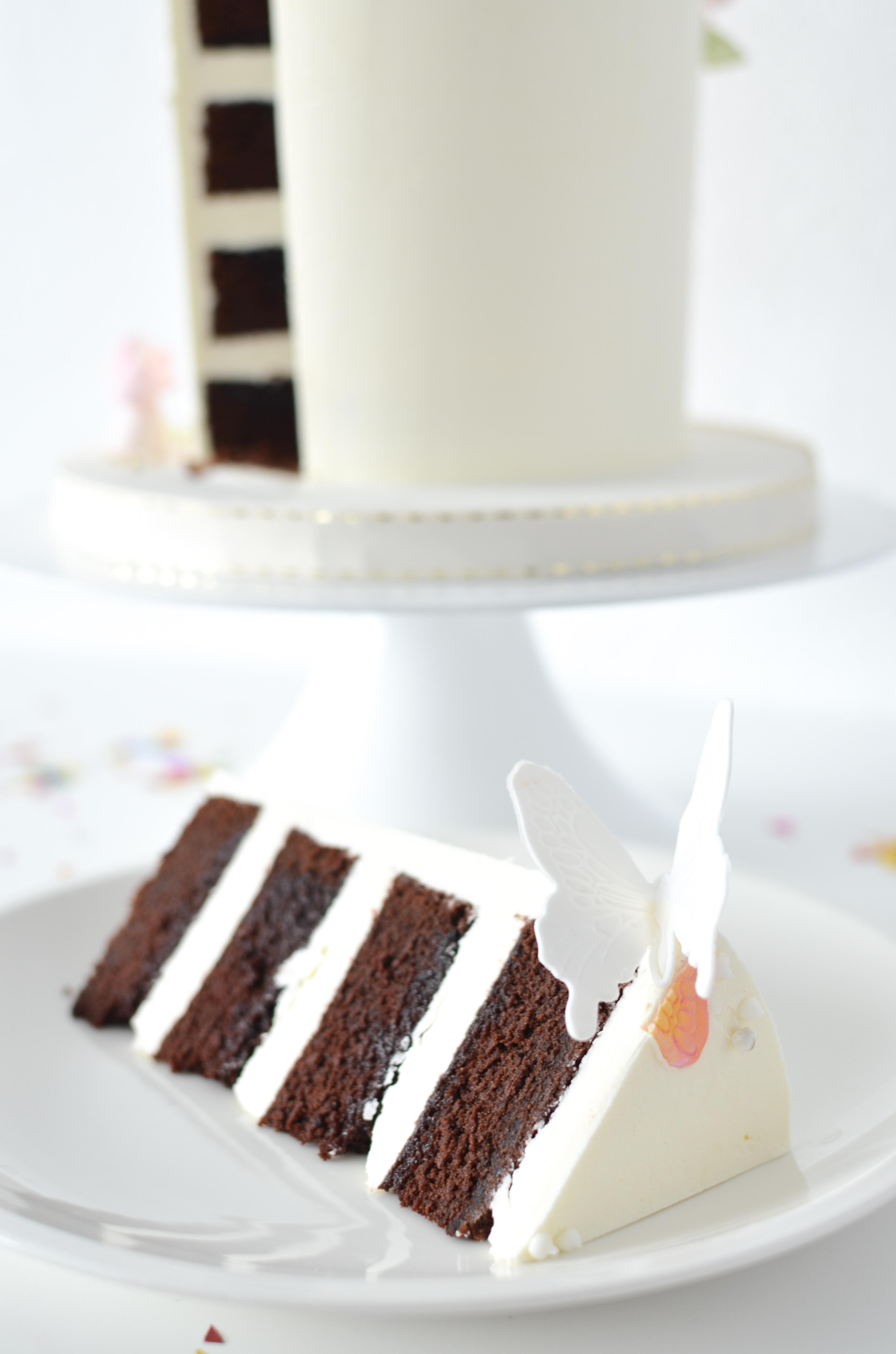 Sharp cake layers